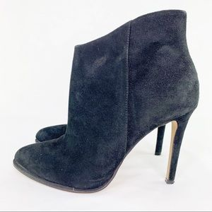Vince Camuto Black Suede Stiletto Ankle Booties 7